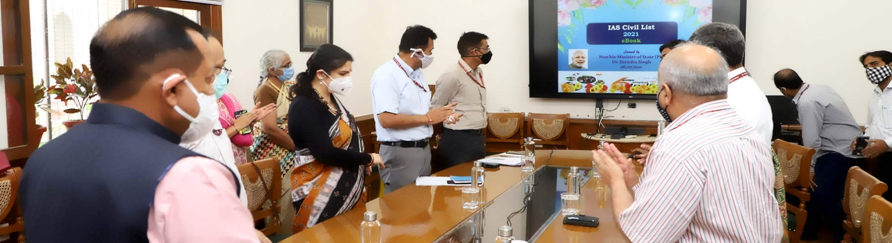 डॉ जितेंद्र सिंह, माननीय कार्मिक राज्य मंत्री के द्वारा आई. ए. एस. अधिकारियों से संबंधित ई- सिविल लिस्ट 2021 का विमोचन ।