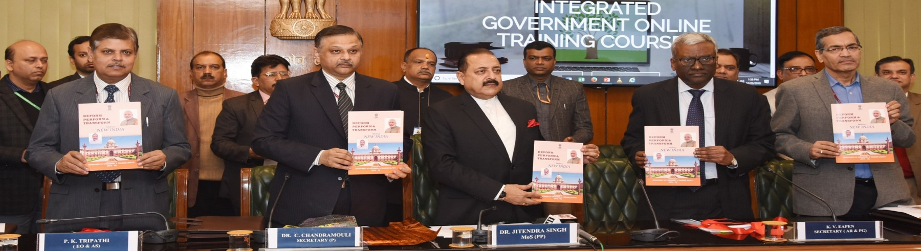 Launching of iGOT (Integrated Government Online Training) Courses and release of booklet on Governance initiatives of DoPT by Dr.Jitendra Singh, Honorable MoS (PP)