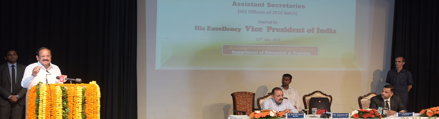 Interactive session with Assistant Secretaries (IAS officers of 2016 batch) was chaired by His Excellency Vice President of India