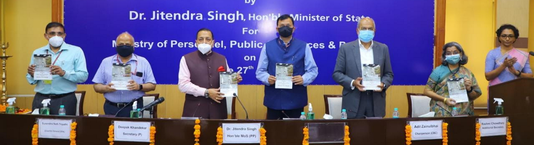 Dr. Jitendra Singh, Honble MoS (PP) released Special edition ISTM Journal on Mission Karamyogi at Institute of Secretariat, Training and Management.